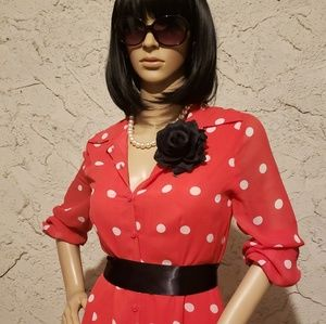 Dresses & Skirts - 3 for $25 ❤ Minnie Mouse look polka dot red dress